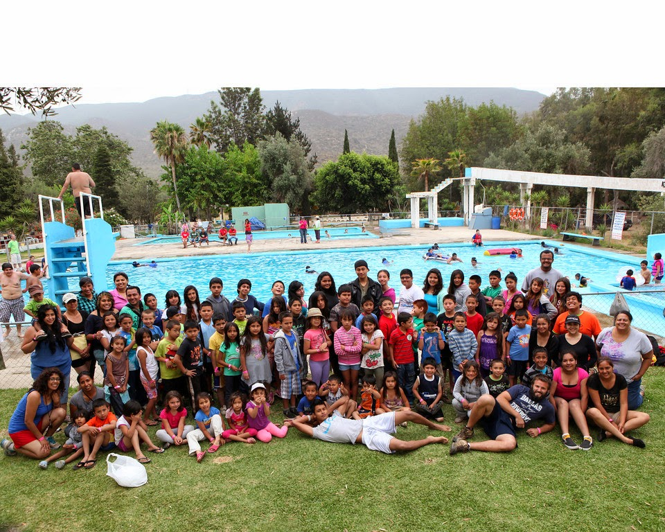 Summer Ministry and pool day at camp in Ensenada