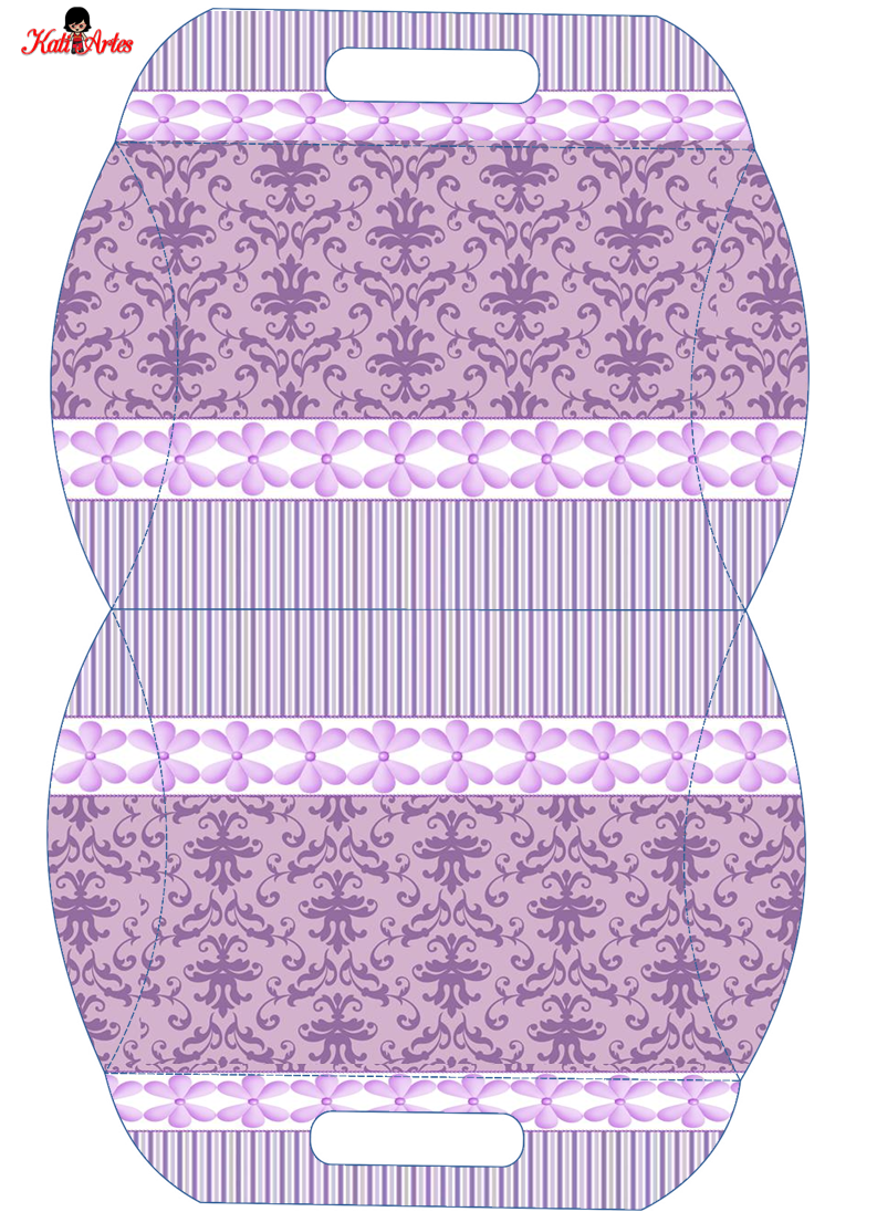lilac damasks: free printable pillow box. | oh my fiesta! in english