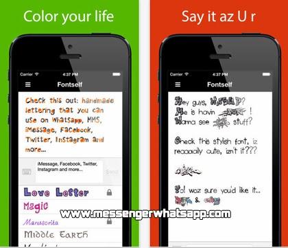 Descarga gratis Fontself Pix para teléfonos iPhone con WhatsApp.