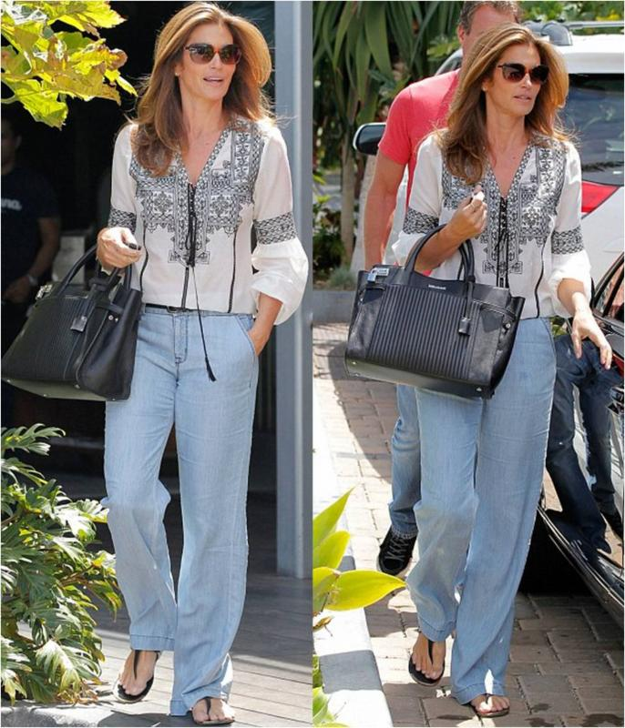 Cindy Crawford Bonnie Trousers in Breeze