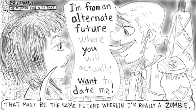Dating and Alternate Futures comic by Joe Chiappetta - Silly Daddy