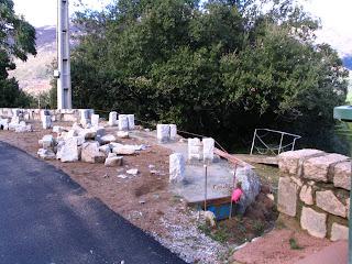 fabrication des murets en pierre de la route de Zicavo à Aullène en Alta Rocca