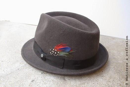 Chapeau Femme Stetson taupe avec plume