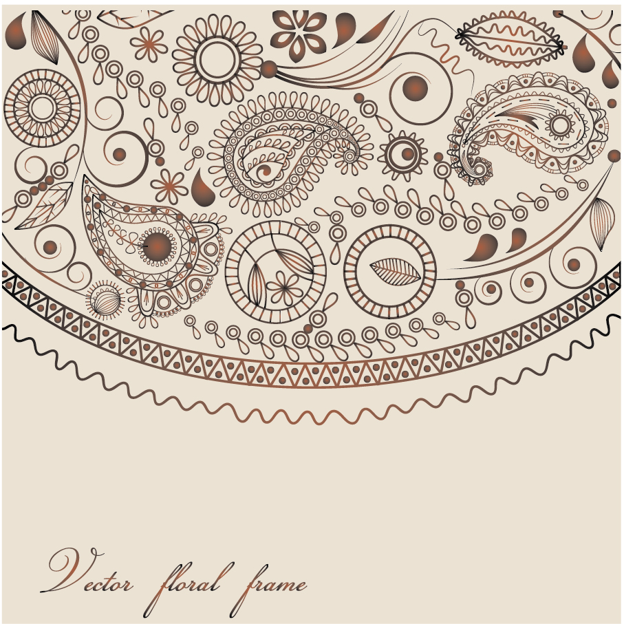ペイズリー柄の背景 ham pattern background イラスト素材