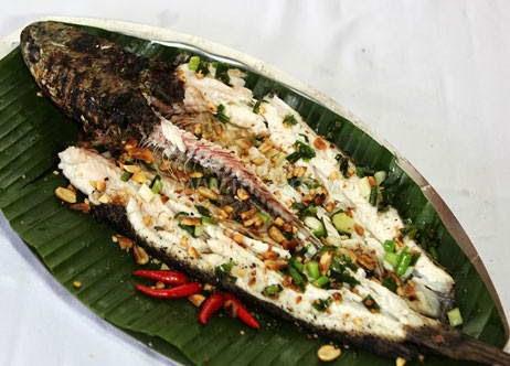 Grilled Snakehead Fish - cá lóc nướng trui