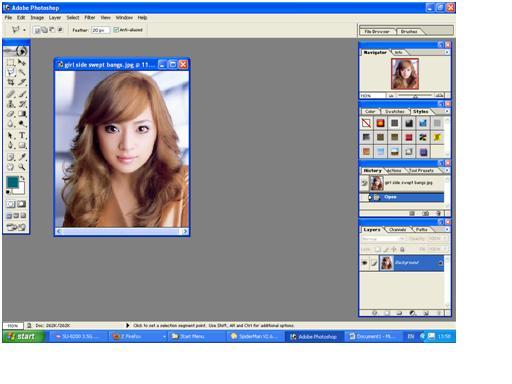 Ganti icon lasso tool menjadi Polygonal lasso tool