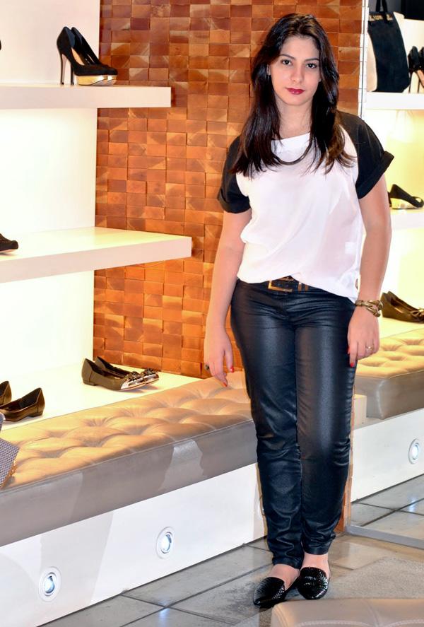 Bárbara Urias - look lançamento coleção verao 2013 calçados santa lolla