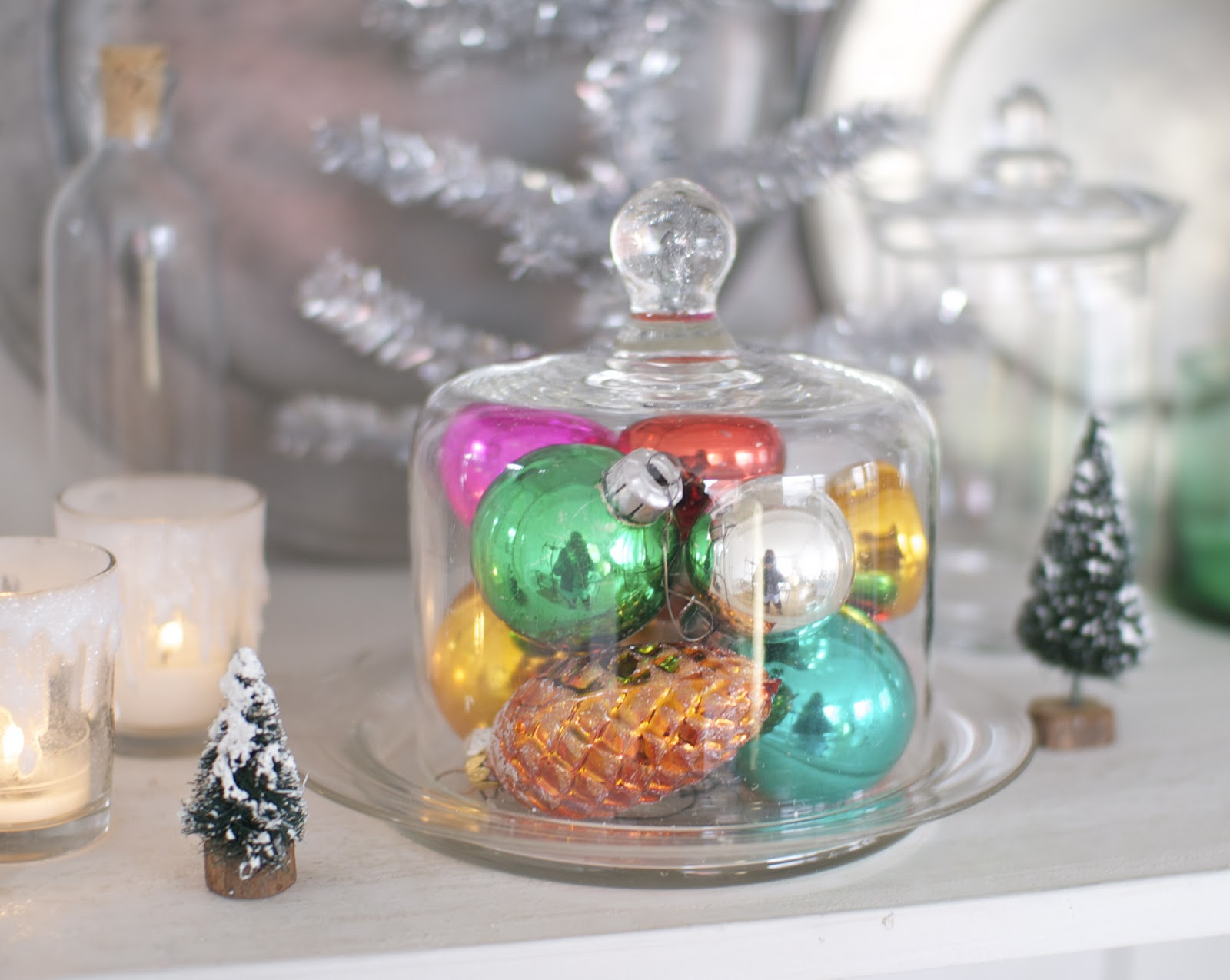 Glass Christmas Balls Decoration Ideas : Ruki duki ideas for decorating with your vintage glass