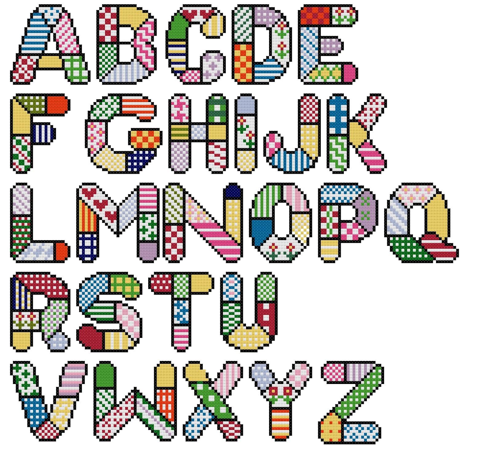 Abecedario para patchwork - Imagui