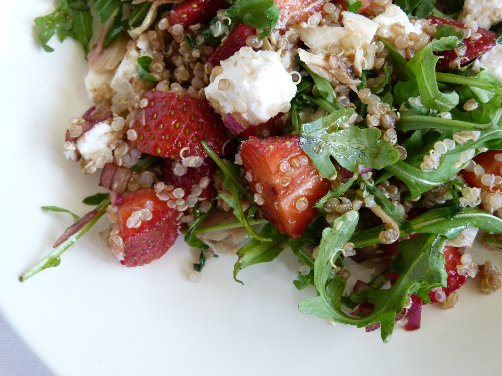 ... Quinoa, Strawberry, Arugula, Goatcheese, and Roasted Chicken Salad