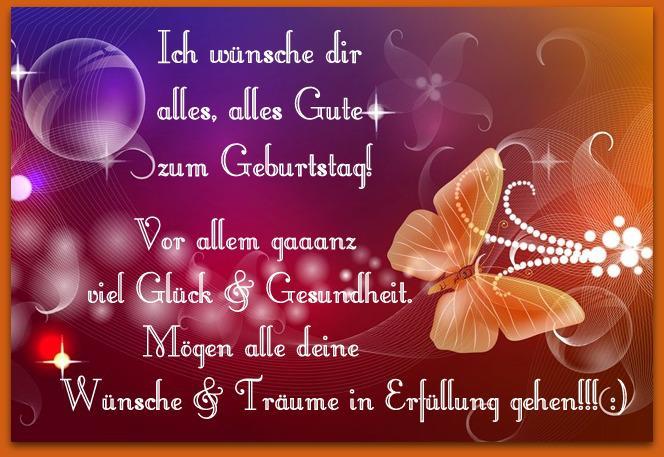 Alles Gute Zum Geburtstag Viel Glück Gesundheit Und Lebensfreude ...
