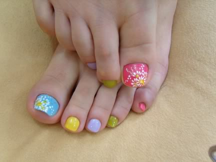 Unhas decoradas mãos e pés
