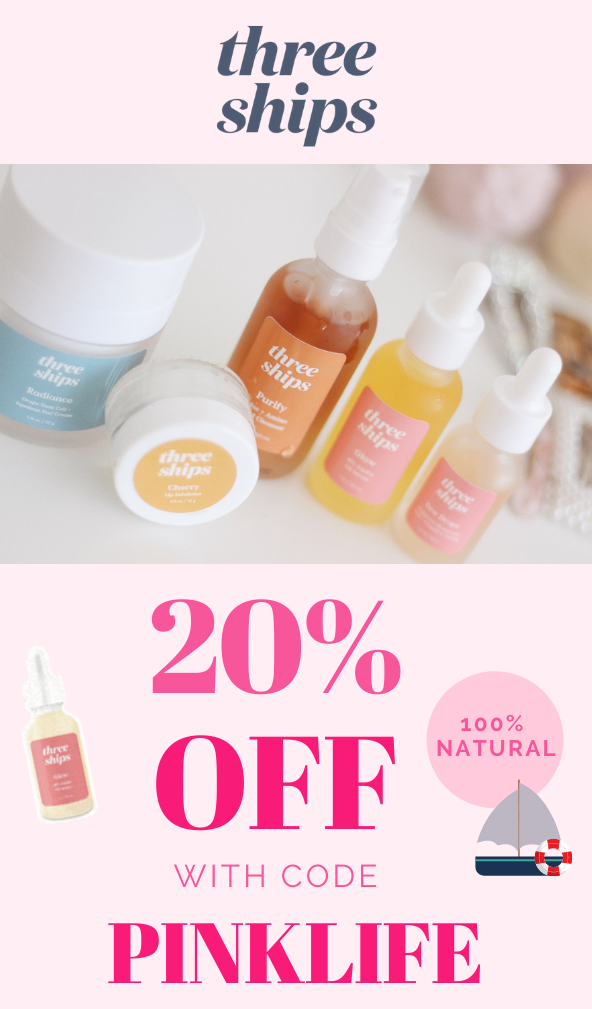 20% off Three Ships Beauty