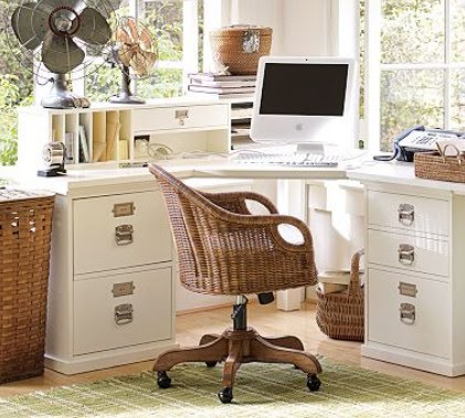 Dezine: Design Bedford Corner Desk Set - Minimalist Decorating Idea
