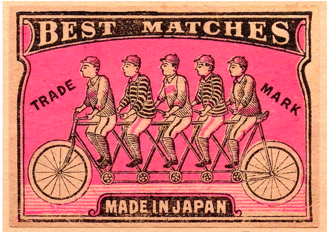 Vintage Bicycle Matchbook
