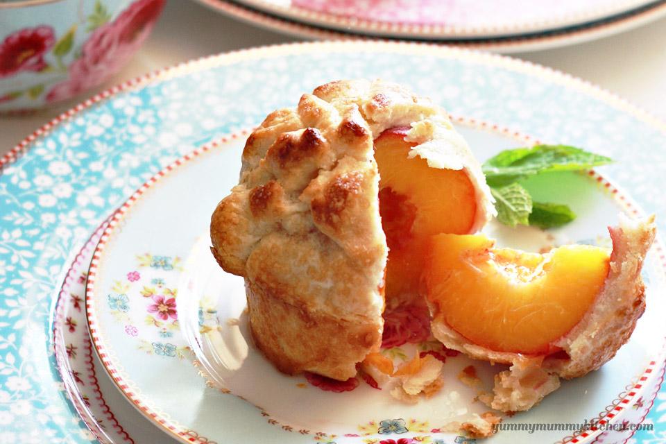 Individual Whole Peach Pies | Yummy Mummy Kitchen | A Vibrant ...