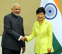 Narendra Modi & SouthKorea president Park Geun-hye