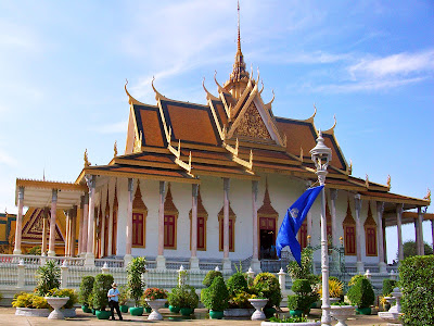 Silver Pagoda and Royal Palace in Phnom Penh - Cambodia