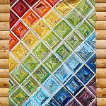 Rainbow Scrappy Strings Quilt