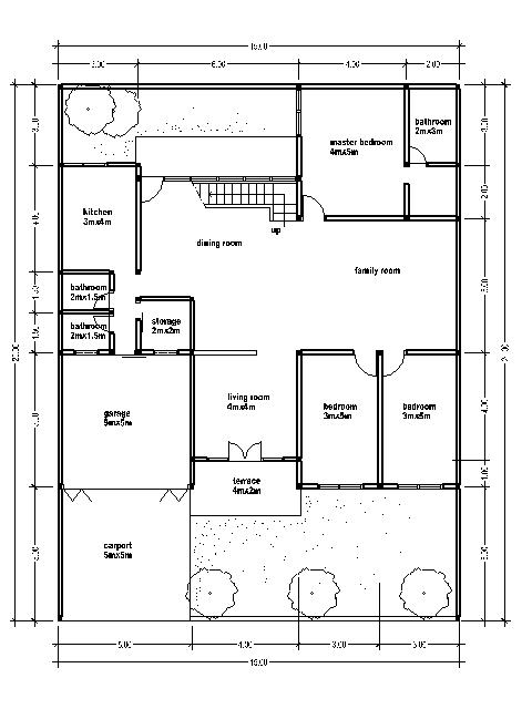 House plan wide 15 m bedroom furniture ideas - Meter wide house plans ...