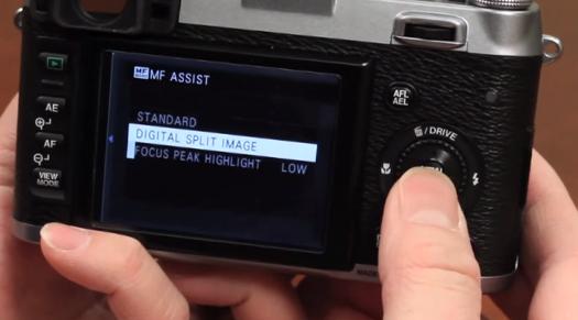 fuji x100s split image rangefinder focusing