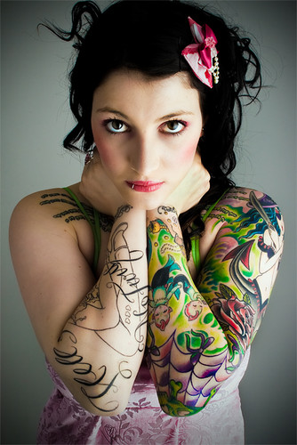 tattoo sleeves on girls. Awesome Sleeve Tattoo