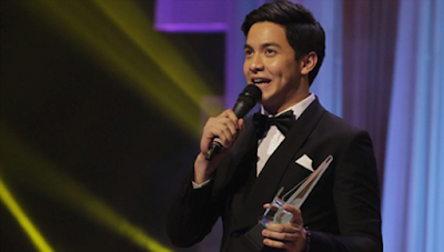 Alden receives his best actor trophy
