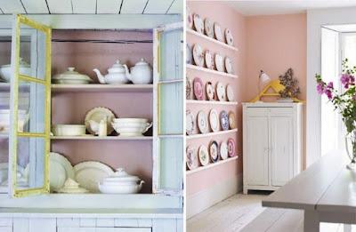 فكرة الصحون cake+plates+on+wall.