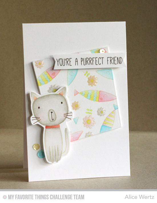 Purrfect Friend Card by Alice Wertz featuring the Cat-itude stamp set #mftstamps