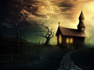 Dark Old Church Dark Gothic Wallpaper