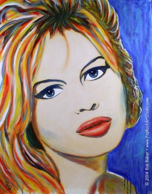 Brigitte Bardot Pop Art Portrait