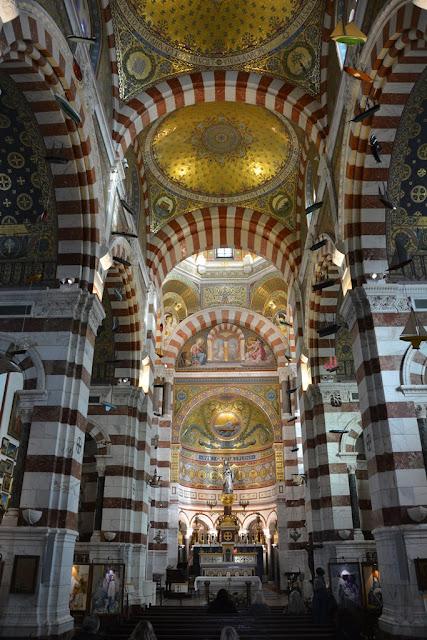Basilica Notre-Dame de la Garde Marseille ceiling