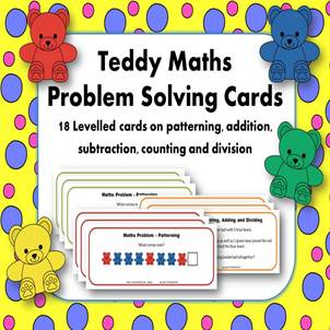 https://www.teacherspayteachers.com/Product/Teddy-Math-Problem-Solving-Cards-for-Patterning-Addition-Subtraction-Counting-1694134