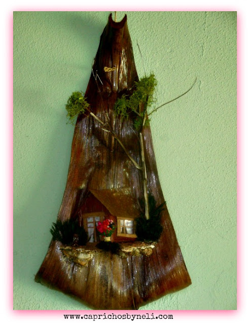 Artesanato com folha seca de coqueiro