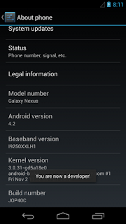 Enable USB Debugging in Android 4.2 Jelly Bean