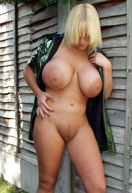 Sehr schwere Hänge Brüste