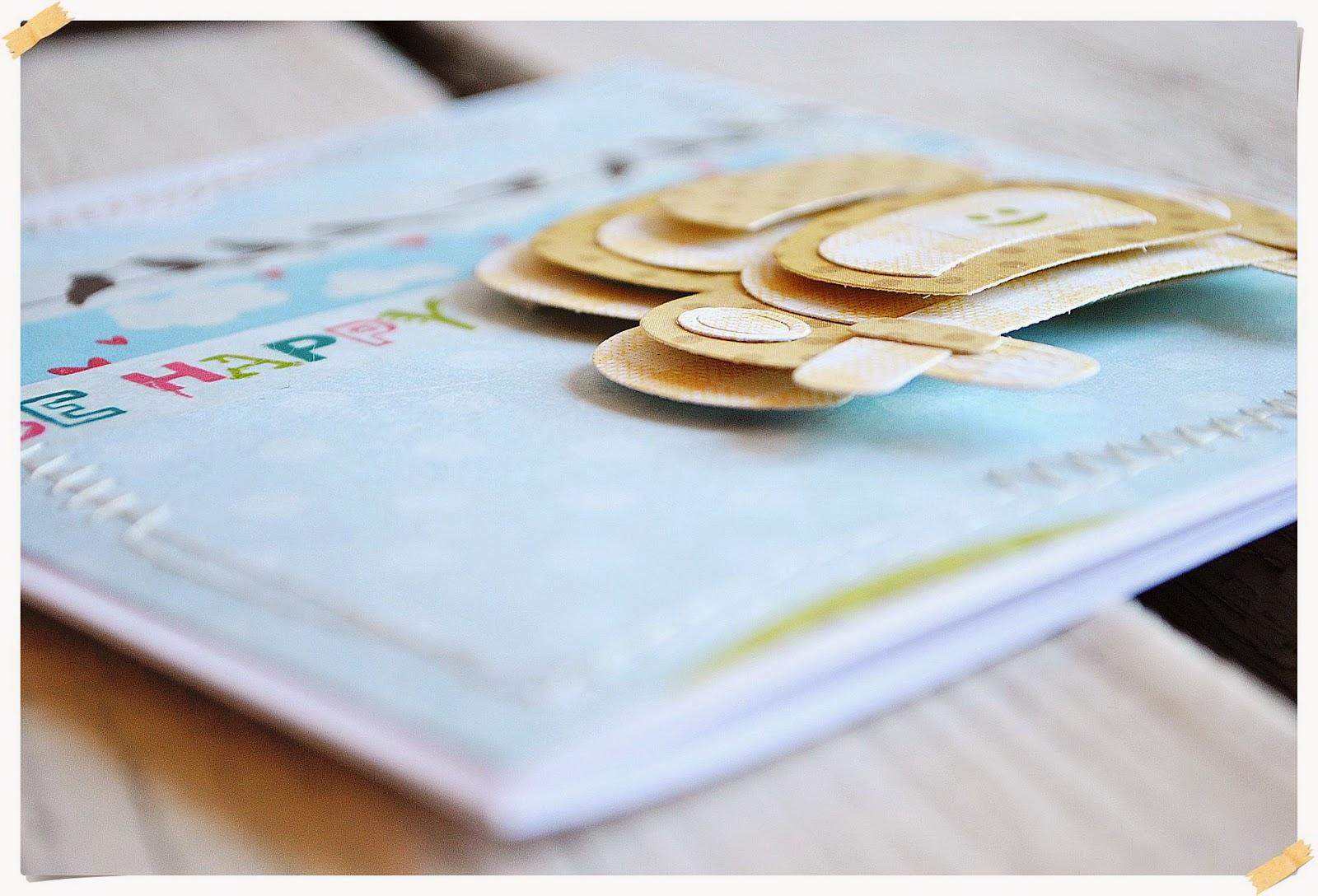 kartka dla dziecka z samochodzikiem scrapbooking