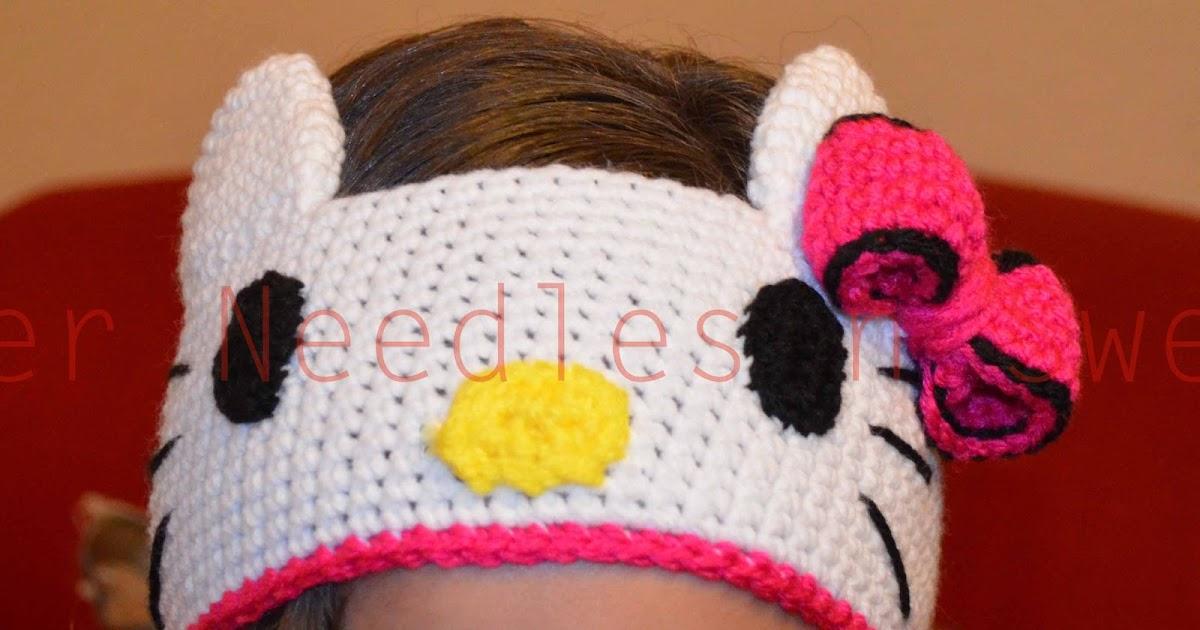 Paper Needles N Sweets Hello Kitty Crochet Headband