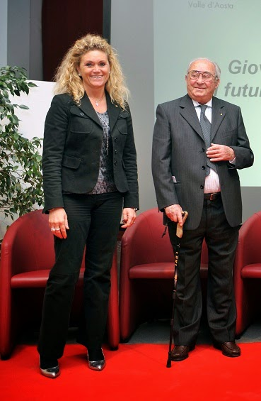 Michele pignataro con la presidente di confindustria valle d aosta