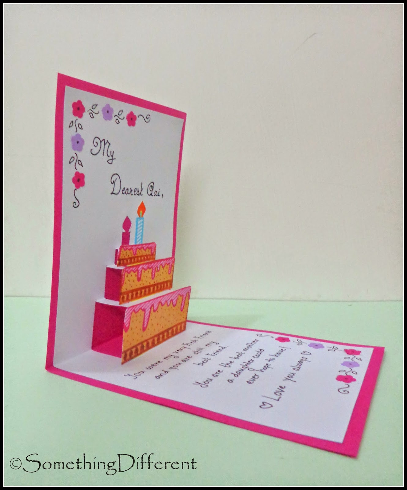 Happy Birthday Pops Card Pop-up 3-d Birthday Card