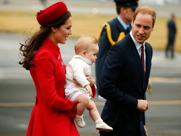 Prince William and Princess Catherine Arrive in New Zealand with Prince George
