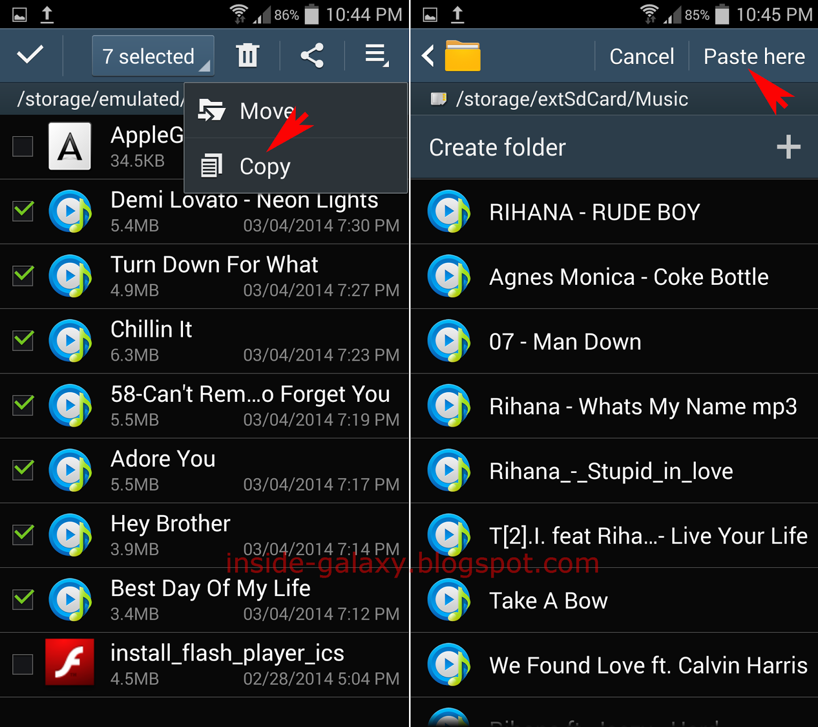 Inside Galaxy: Samsung Galaxy S4: How to Transfer Files to SD Card in