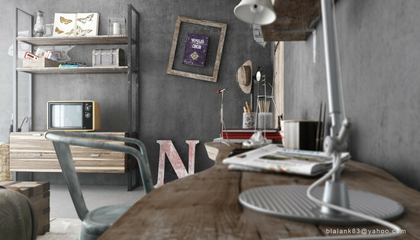 Industrial bedrooms interior design home design Home art studio interior design ideas