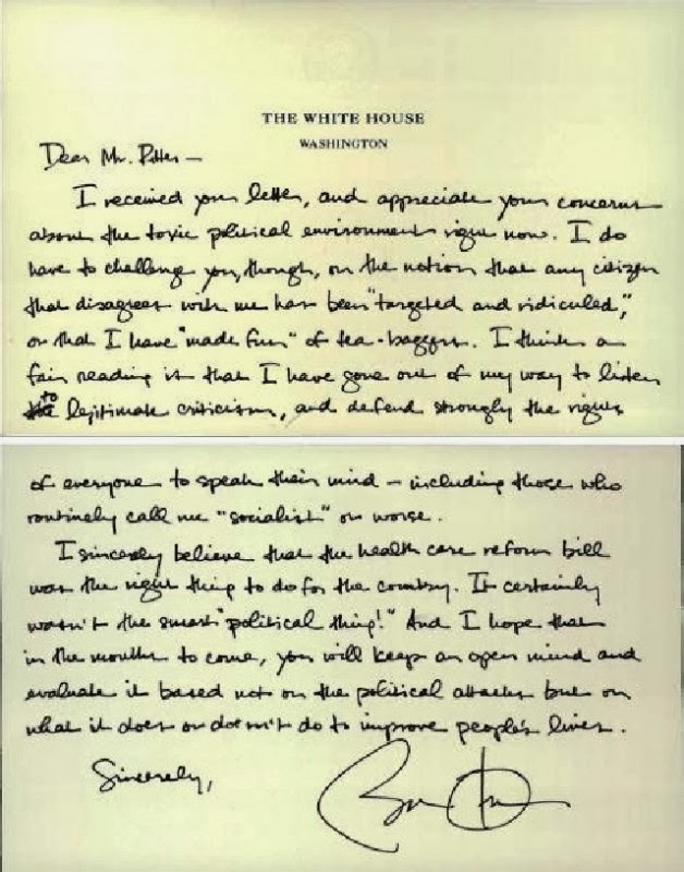 EBL: Did Barack Obama really write a letter referring to the ...
