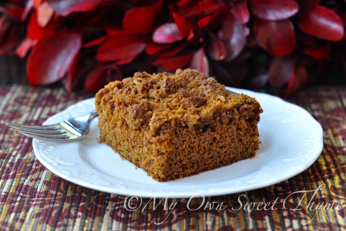 My Own Sweet Thyme: Gingerbread Streusel Coffee Cake