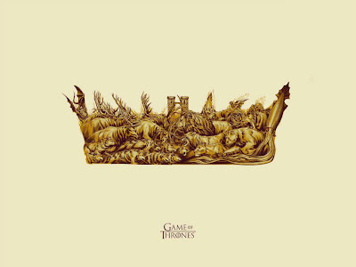 """The Battle"" Game of Thrones Gold Edition Screen Print by Phantom City Creative"