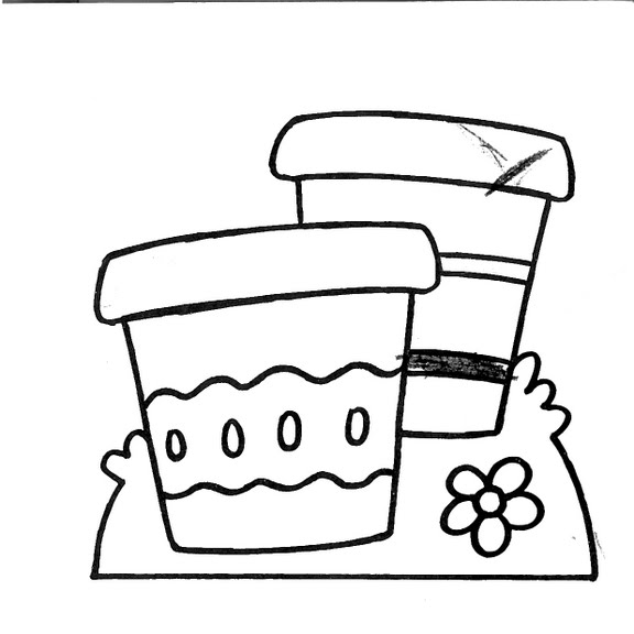 dibujos infantiles: dibujo infantil macetas