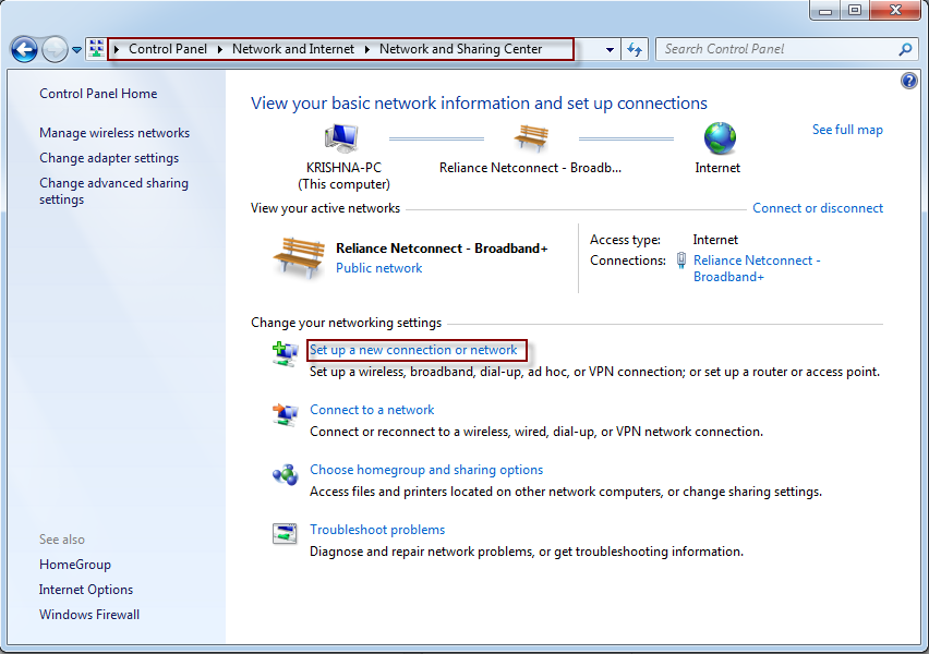 how to set up wireless connection windows 7 komputer