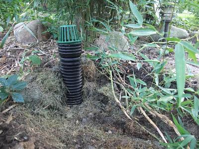 underdrain cap, filter, backyard, gutter