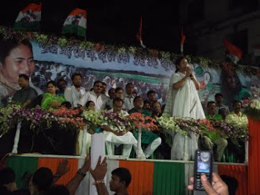 Mamata didi at Behala Chourasta